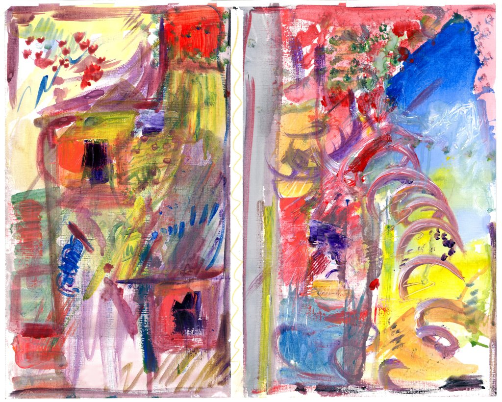 Line Exploration Acrylic 2013 20 x 23