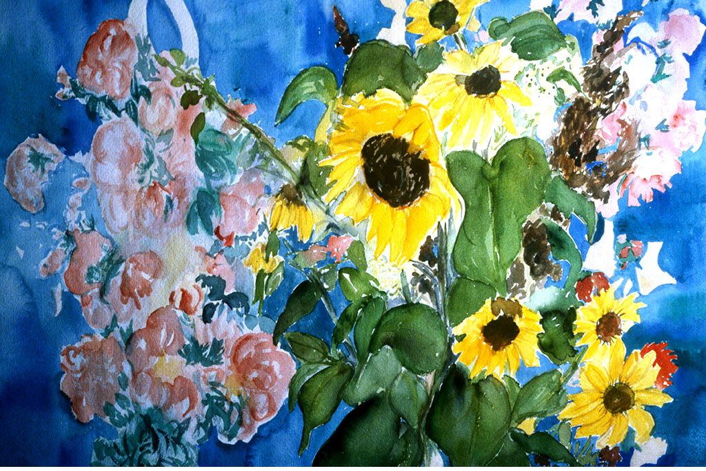 Sunflowers-&-Blue-20-x-24